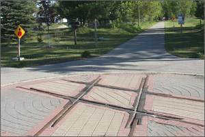 The intersection of the Pere Marquette Trail and Fred Meijer Pine Trail in Reed City.  Source: Eye on Michigan http://www.eyeonmichigan.com/guides/reedcity/photos.php